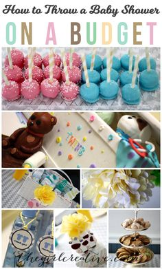 How to Throw a Baby Shower on a Budget | Dollar Store favors, handmade decorations, desserts and free printables #BabyShower