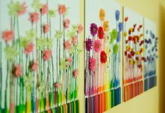 Melted crayon art - Seasons