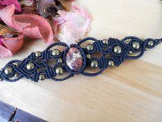 jasper bracelet,macrame bracelet,cabochon bracelet,macrame jewelry,handmade bracelet,jasper stone,stone bracelet,boho bracelet,festival
