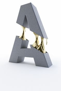David Brodeur Typography Gold Filling