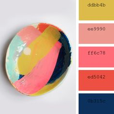 Bright colors. Summer time color inspiration. Bright color palette inspiration. Color palette inspiration.