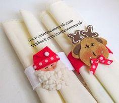 Anillos navideños para servilletas-Manualidades
