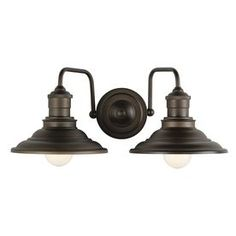 maybe for the main level pwd room?  allen + roth 2-Light Hainsbrook Aged Bronze Bathroom Vanity Light