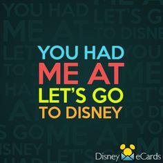 You had me at Disney.