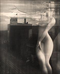 Yuuishi Kobayashi - Jojoshi Metropolis (Lyrical Poetry of the Metropolis), an avant-guard study of the human form: marble torso superimposed...