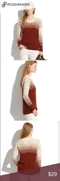 Madewell sweater- size medium. Madewell sweater - size medium. Wool and acrylic. Soft, cozy knit. Looks great with jeans. Madewell Sweaters