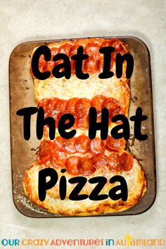 Why not turn pizza night into an educational activity with this tasty Cat In The Hat version? Kids will have fun retelling this classic story. #autismland #homeschoolingautism #DrSeuss #readacrossamerica via @pennyrogers Teaching American Literature, High School Literature, Reading Resources, Teaching Reading, Learning, Hands On Activities, Educational Activities, Kids Meals, Easy Meals