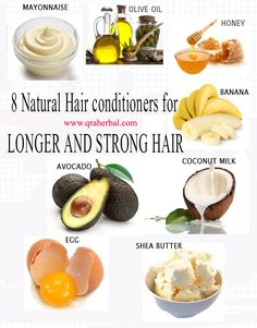 Use natural hair Conditioners to nourish your hair, add proteins, strength and elasticity that leaves your hair feeling clean, healthy and super soft. Mayonnaise: Mayonnaise has amazing hair benefits. It can be used to repair and rejuvenate damaged hair. Dampen your hair and apply mayonnaise rubbing... Know more: www.qraherbal.com