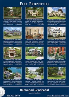 This Hammond ad featuring some of the finest properties available in and around Greater Boston will appear in the July 17 edition of the Wall Street Journal.