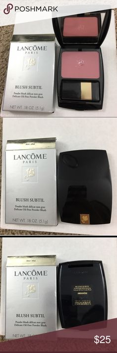 ✨NIB- Lancome Blush Subtil✨ Authentic! Brand new, never used! Blush compact is slender and fits perfectly in most cosmetic bag & comes with a mini blush brush! Formula is oil-free & glides on effortlessly! Color: Amourose Lancome Makeup Blush