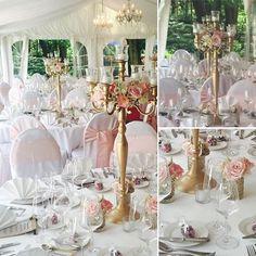 ....und nun das 2. Glück von 6 Hochzeiten dieser Woche, die wir mit unserer Dekoration unterstützen durften!  #blumen #hochzeitsdeko #wedding #hochzeit #altgold #inselmuhle #altrosa #rosa #kerzenständer #rosen #innawiebe_com #lisianthus