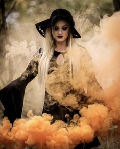 Don't make me flip my witch switch 😛⚡️ Smoke Bomb Photography, Dark Photography, Creative Photography, Photography Poses, Witch Photos, Halloween Pictures, Fall Pictures, Glam Photoshoot, Photoshoot Ideas