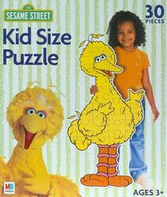 Sesame Street Kid Size puzzles. This jigsaw puzzle features Big Bird.