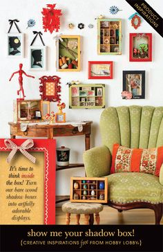It's time to think inside the box! Turn our bare wood shadow boxes into artfully adorable displays.