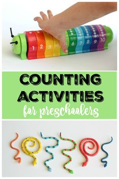 Counting Activities for Preschoolers: Teaching children to count is foundational for learning math. The best way to teach little ones is through play and hands-on counting activities. *Love this counting caterpillar toy from Melissa & Doug
