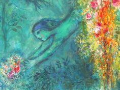 """venuscomb:    """"Art must be an expression of love or it is nothing."""" —Marc Chagall.  Painting hung at The Musée National Marc Chagall."""
