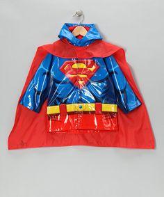 Love this Blue Superman Raincoat & Cape - Toddler on #zulily! #zulilyfinds