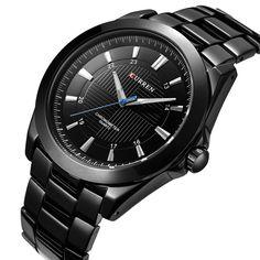 CURREN Luxury Brand Famous business men watches full steel quartz watch men waterproof male clock Relogio Masculino 2017
