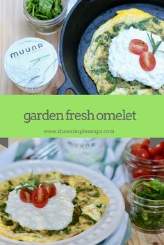 Garden Fresh Omelet- High protein, low carb and full of flavor! Gluten Free too! Best Egg Recipes, Healthy Vegetable Recipes, Healthy Breakfast Recipes, Italian Recipes, Real Food Recipes, Healthy Food, Free Recipes, Keto Recipes, Healthy Eating
