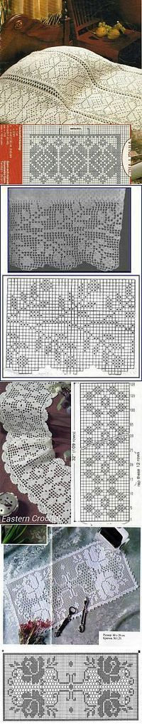 Follow diagram  to make the beautiful filet crochet bedspread.