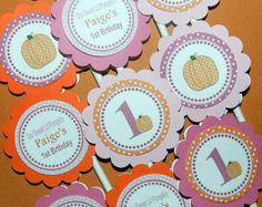 Fall Birthday Party - Fall Birthday -Fall Birthday Decorations-  Fall Birthday Cupcake Toppers-Pumpkin Birthday