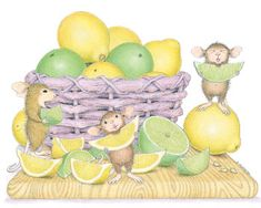 """Mudpie, Maxwell and Amanda"" from House-Mouse Designs® Eating Lemons and limes House Mouse Stamps, Mouse Pictures, Mouse Color, Cute Mouse, Tatty Teddy, Little Critter, Mud Pie, Cute Characters, Copics"