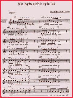 Nie było ciebie tyle lat... Flute Sheet Music, Kalimba, Music Score, Music Notes, Ukulele, Technology, Books, Piano Songs, Violin