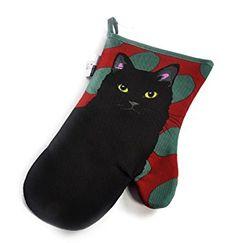 Leslie Gerry Single Gauntlet Oven Glove Black Cat for sale online Black Cats For Sale, Retro Stove, Oven Glove, Gloves, Ebay, Kitchen, Cooking, Kitchens, Cuisine