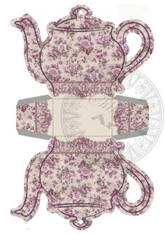 Instant Download  Printable Tea Bag Holder Box  LILAC  by ChikUna, $3.00