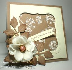 bloom card by Joan Ervin... love, love, love! I can't get enough of kraft and white, lol :)