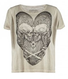 978cd6bf Dark design but made a little feminine with the heart. Loads of print  detail. Lovesick T-shirt, Women, Graphic T-Shirts, AllSaints Spitalfields