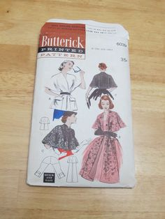 1950s Butterick cape/stole pattern 6039 one size by PicassosStudio, $15.00