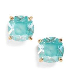 Women's Kate Spade New York Mini Stud Earrings ($32) ❤ liked on Polyvore featuring jewelry, earrings, mint, cubic zirconia jewelry, cubic zirconia stud earrings, cz jewellery, mint green stud earrings and stud earrings