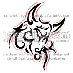 toro tribal tattoo design by Hudson Assis