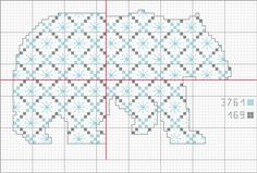 polar_bear.  not sure I'll like this one, as it is partially blackwork.  will be easy to do, but I might modify it a bit.  love the quilt-like silhouette pattern.  clear chart and floss numbers.
