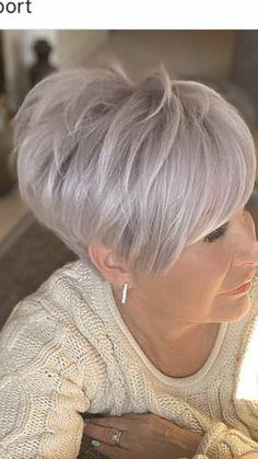 Short Choppy Hair, Short Straight Hair, Short Hair With Layers, Short Hair Cuts For Women, Short Hair Styles, Short Silver Hair, Short White Hair, Super Short Hair, Mom Haircuts