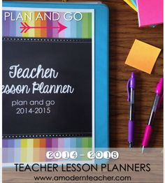 Teacher Lesson Planners; Editable, lots of choices, #planandgo #teacherplanners, $ www.amodernteacher.com