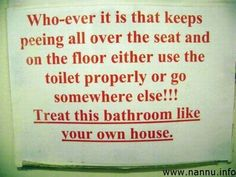 Funny Bathroom Signs | Funny Toilet Signs : Funny Pictures - NDTV Forums