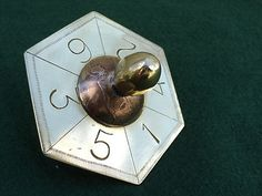Trench Art Spinning Top Dice Teetotum WW1 Penny 1917 Vintage brass | eBay