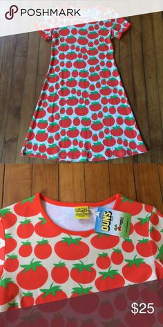 NWT DUNS of Sweden Kid's 11-12 Cotton Tomato Dress This is so adorable! Short sleeve dress made by Swedish company DUNS of Sweden. Fits 11-12 years. DUNS of Sweden Dresses Casual