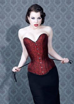 Tight lacing half plunge corset - hover over image to zoom