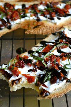 9. Goat Cheese and Sun-Dried Tomato Crostini #greatist https://greatist.com/eat/goat-cheese-recipes