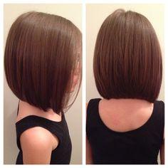 New Bob Haircuts 2019 & Bob Hairstyles 25 Bob Hair Trends for Women - Hairstyles Trends Medium Hair Cuts, Short Hair Cuts, Medium Hair Styles, Short Hair Styles, Girl Short Hair, Girls Haircuts Medium, Kids Girl Haircuts, Haircuts For Little Girls, Little Girl Bob Haircut