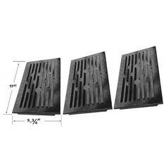 For Uniflame 5pk Porcelain Steel Heat Shield Plate Replacement Lowes and Others