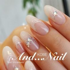 Rhinestone Nails Add instant glam to your nails with this year's latest nails with rhinestones trend. Rhinestone nails are every glamour girl's dream! Check out our best picks! Glam Nails, Beauty Nails, Cute Nails, 3d Nails, Diy Rhinestone Nails, Nail Art Rhinestones, French Nails, Fingernails Painted, Wedding Nails Design