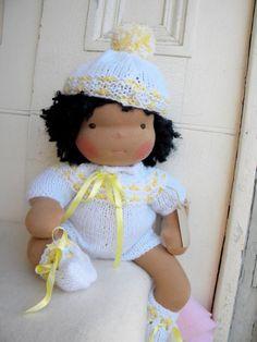 Jonathan is a lovely Waldorf doll all hand made by BAMBOLEDISTOFFA, $120.00