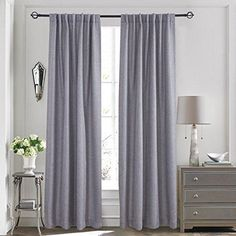 Lullabi Premium Collection Thermal Tweed Grasscloth Texture Room Darkening Window Curtain Drapery Back Tab 84