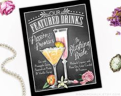 Summer Wedding Decoration Signature Drink Sign DUAL DRINKS