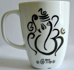 Ganesh Ohm Coffee Mug  Ganesha Aum Tea Cup  Om by DreamAndCraft, $15.00