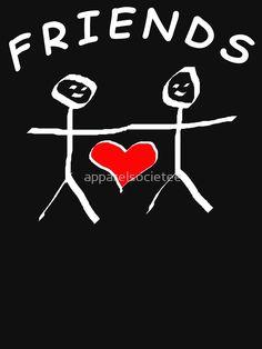 Friend Friendship, Chiffon Tops, Best Friends, Shirt Designs, Fabric, Prints, T Shirt, Beat Friends, Tejido